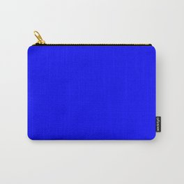 Electric Blue Solid Color Carry-All Pouch