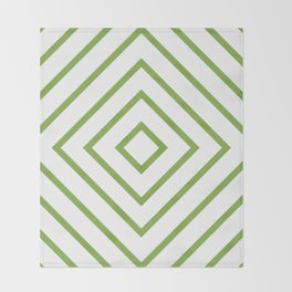 Nested Green Squares Throw Blanket