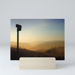 this direction - sunset highlands Mini Art Print