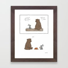 Shoulda Said Pizza Framed Art Print