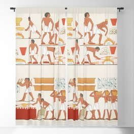 Rothennou gold founders worker from Histoire de lart egyptien (1878) by Emile Prisse dAvennes Blackout Curtain