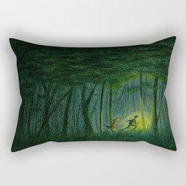 Throughout the woods... Rectangular Pillow