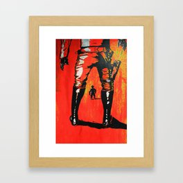 Han Solo Stand Off Framed Art Print