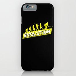 Ice Hockey Player Evolution Sport Trainer Coach Goalie Funny Team Goalkeeper Defender Gift Idea iPhone Case