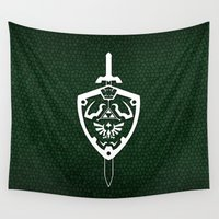 sword Wall Tapestries featuring Master Sword & Hylian Shield by DavinciArt