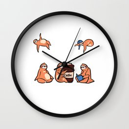 Suffer From OSD Lazy person Gift Wall Clock