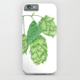 Beer Hop Flowers iPhone Case