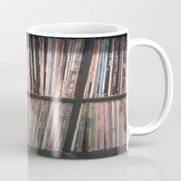 records Mugs featuring Records by Loudesthowl