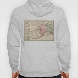 Vintage Map of Alaska and Russia (1869) Hoody
