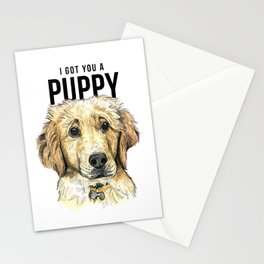 Yellow Lab Puppy Drawing Stationery Cards