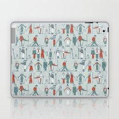vintage ski linen Laptop & iPad Skin