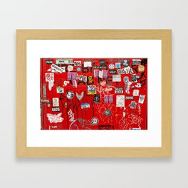 Wolf Lane Framed Art Print