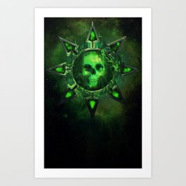 Chaos Icon - Nurgle Art Print