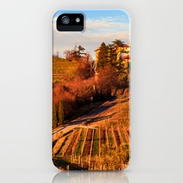 Sunset in the vineyards of Rosazzo iPhone Case