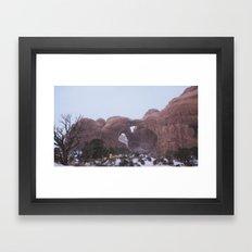 Snowy Double Arch Framed Art Print