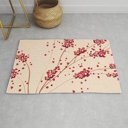 Boho Sakura Abstract Rug