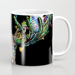 MOOSE watercolor and ink portrait Coffee Mug