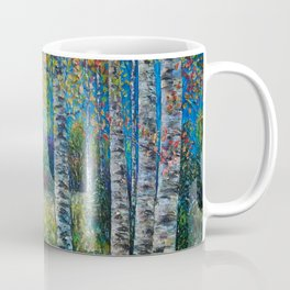 Nocturne Blue - Palette Knife Coffee Mug