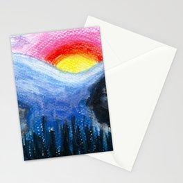 Colorful Sunset Landscape Stationery Cards
