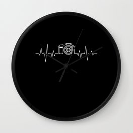 Camera Photograph Heartbeat Gift Wall Clock