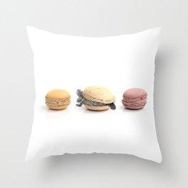 Cute Turtle Macaron Throw Pillow