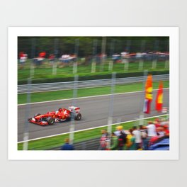 Fernando Alonso - 2013 Gran Premio d'Italia Art Print