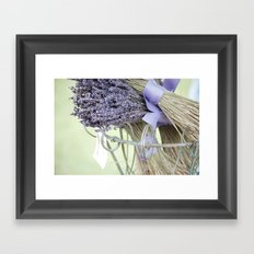 dried lavender Framed Art Print