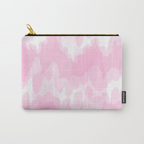Blossom - Blush pink abstract art Carry-All Pouch