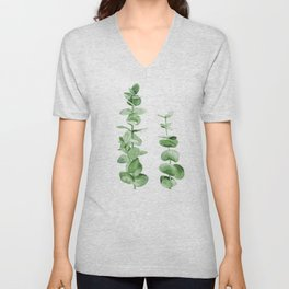 Eucalyptus leaves. Unisex V-Neck