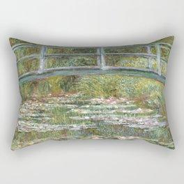 Bridge over a Pond of Water Lilies by Claude Monet Rectangular Pillow