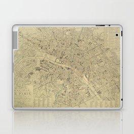 Vintage Map of Paris France (1843) Laptop & iPad Skin