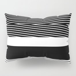 Black and white abstract striped pattern Pillow Sham