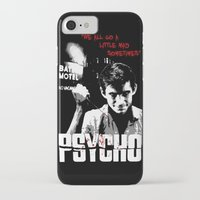psycho iPhone & iPod Cases featuring Psycho by PsychoBudgie