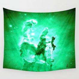 NEbula. : Green Pillars of Creation Wall Tapestry