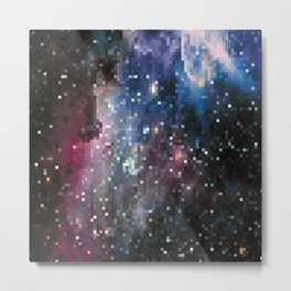 galaxy pixel Metal Print