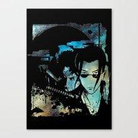 samurai champloo Canvas Prints featuring Samurai Grunge by BradixArt