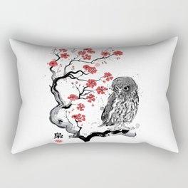 Fukuro sumi-e Rectangular Pillow