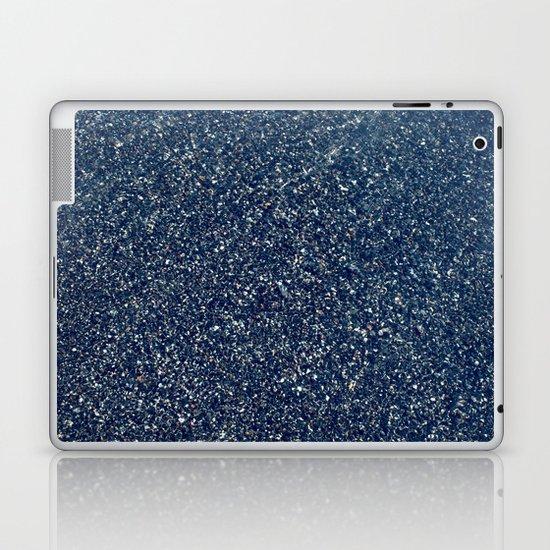 Black Sand II (Blue) Laptop & iPad Skin