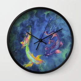 Koi fishes. Japanese fishes Wall Clock