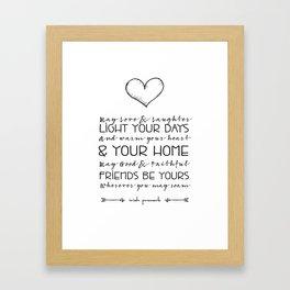 Irish Proverb - May Love & Laughter Framed Art Print