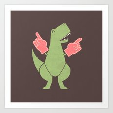 Yay! Big Hands! Art Print