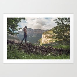 Mountain lover Art Print