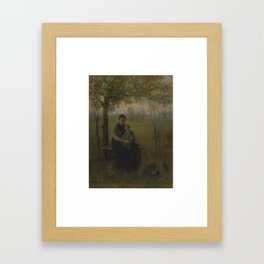 Jozef Israels 1824-1911 DUTCH THE MADONNA OF DRENTHE Framed Art Print