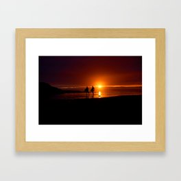 Polzeath Framed Art Print
