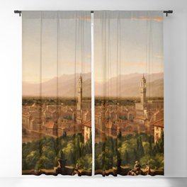 View of the Duomo and Florence, Italy by Thomas Cole Blackout Curtain