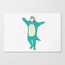 Jimin the Dinosaur Canvas Print