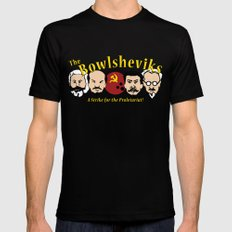 The Bowlsheviks (A Strike for the Proletariat!) Mens Fitted Tee MEDIUM Black