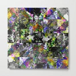 Textured Chaos - Abstract, textured artwork Metal Print
