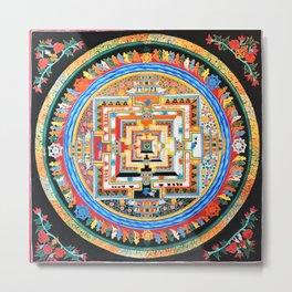 Mandala Buddhist 8 Metal Print