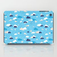 airplanes iPad Cases featuring Paper Airplanes by Polita